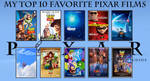 My Top 10 Favorite Pixar Films by JackHammer86