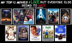 My Top 10 films I like but everyone else hates by JackHammer86