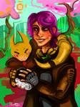 Commission: Morpheus and Trainersona (kittengoo) by RoguishBard