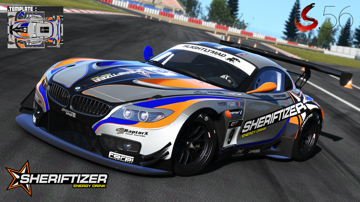 Bmw Z4 Gt3 Sheriftizer By Speedyx56 On Deviantart