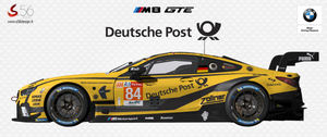 BMW M8 GTE Deutsche Post for rFactor 2
