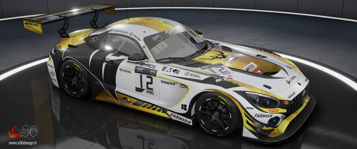 Mercedes AMG GT3 Corsair Components #12 for ACC