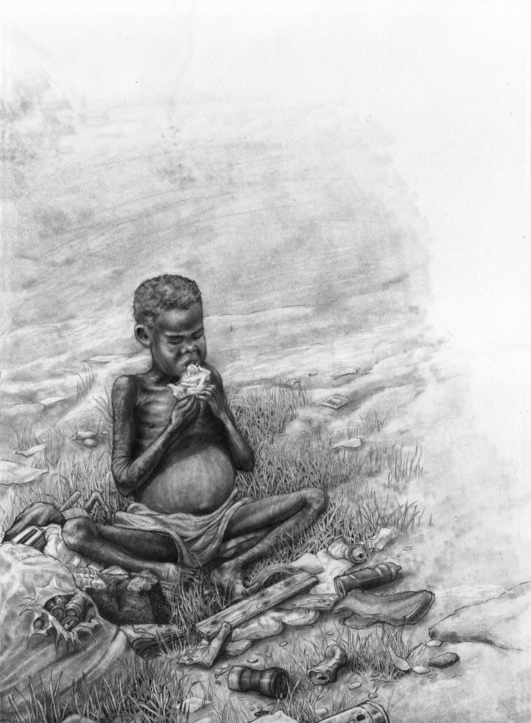 Starving African Child Belly African Child Starving...