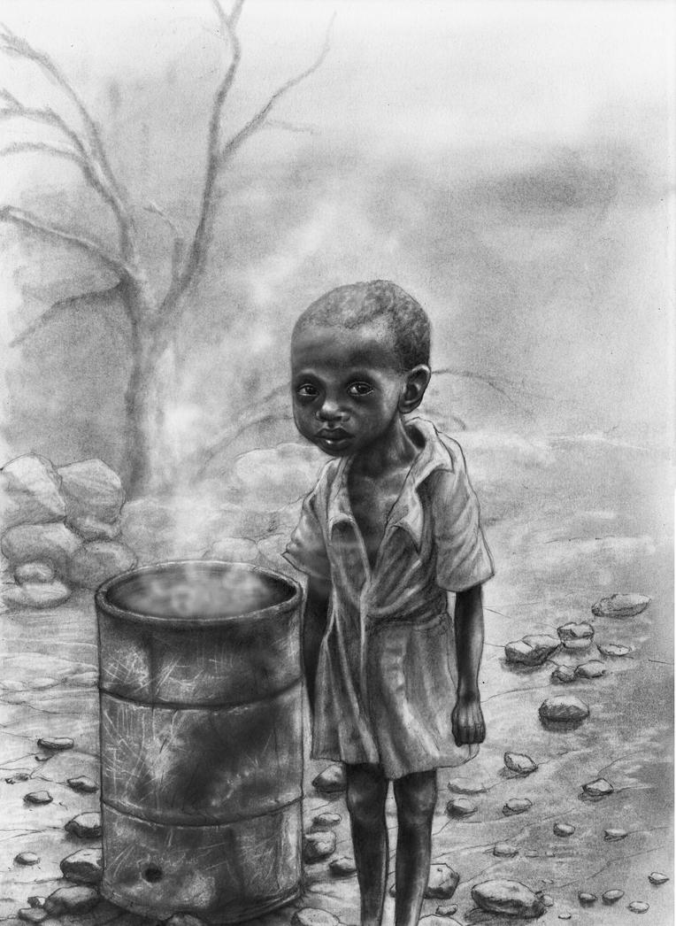 Starving African Child 2 by RodgerHodger on DeviantArt