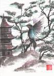 Sumie colibri