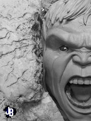 Hulk Face Escultura by JBerlyart