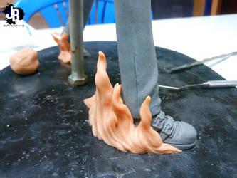 Iori Yagami en proceso by JBerlyart