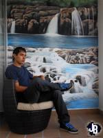Mural Cascadas by JBerlyart