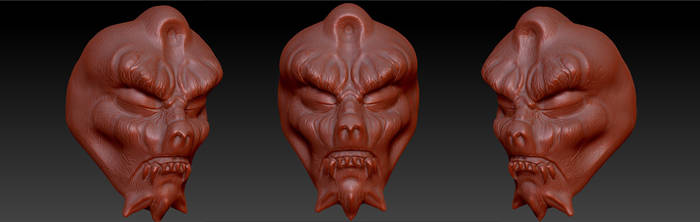 Creature face by JBerlyart