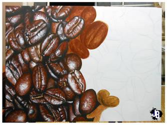 preparing some coffee by JBerlyart