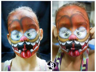 Crazy Garfield Makeup by JBerlyart