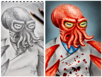 Zoidberg pencil to digital by JBerlyart