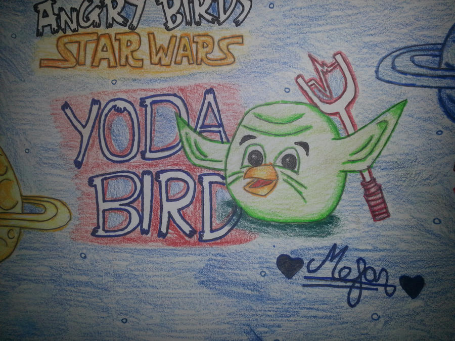 Angry Birds Star Wars: Yoda Bird by MeganLovesAngryBirds