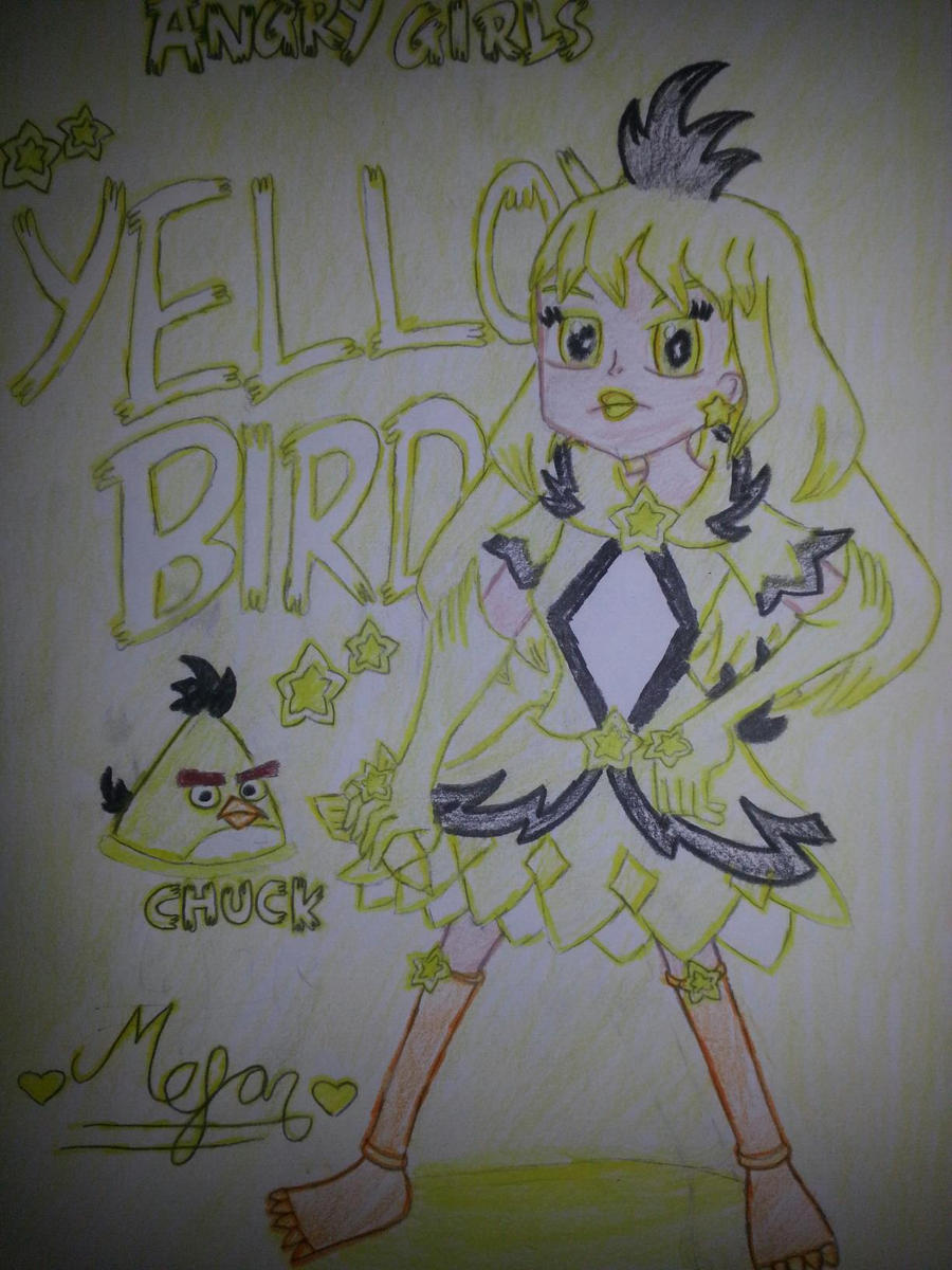 Angry Girls/Angry Birds: Yellow Bird Girl by MeganLovesAngryBirds