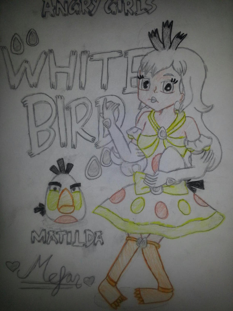Angry Girls/Angry Birds: White Bird Girl by MeganLovesAngryBirds