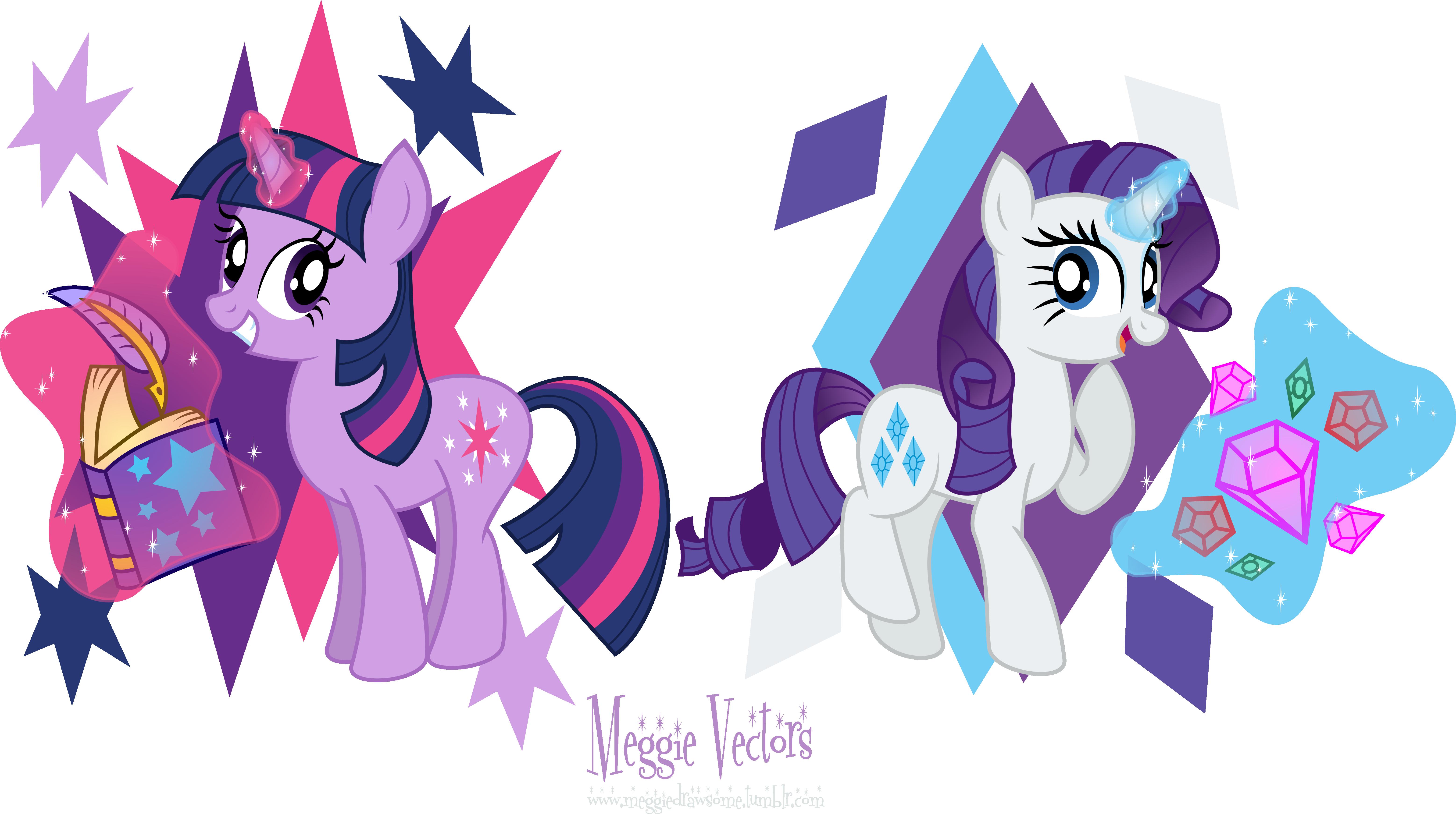 My little pony twilight sparkle and rarity