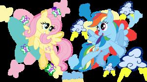 MLP: FIM -Fluttershy and Rainbow Dash