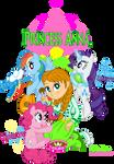 Anna meets Rarity, Rainbow and Pinkie