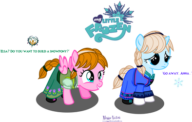 Filly Princess Anna and Filly Queen Elsa by Meggie-Vectors