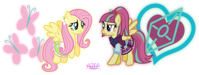 Fluttershy VS Sour Sweet by MeganLovesAngryBirds
