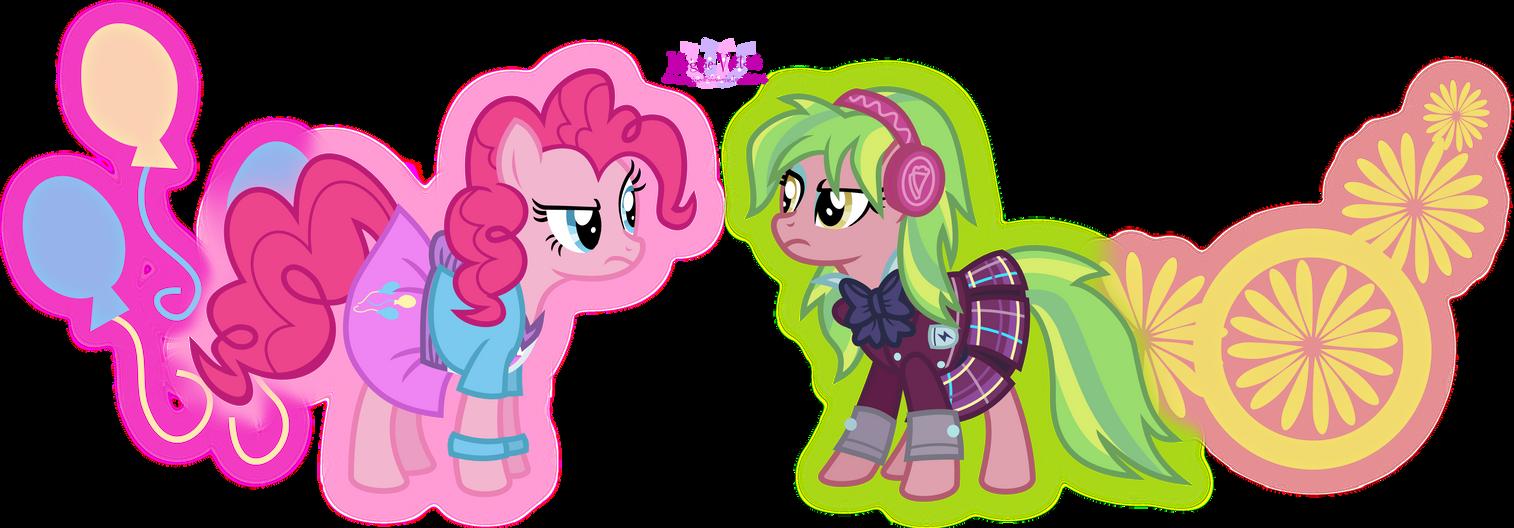 Pinkie Pie VS Lemon Zest by MeganLovesAngryBirds