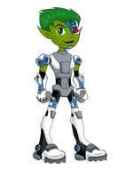 Cyborg The Cyber Beast Boy by BeastGreen