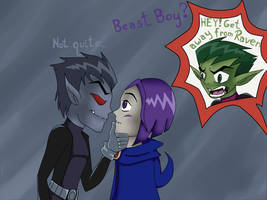 Evil Beast Boy_Raven_Beast Boy by BeastGreen