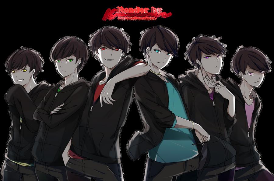 Render 7 Matsuno Brothers By Kasu Chii On Deviantart