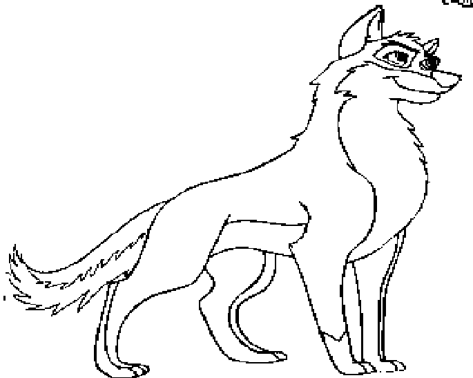 balto howling coloring pages - photo #1