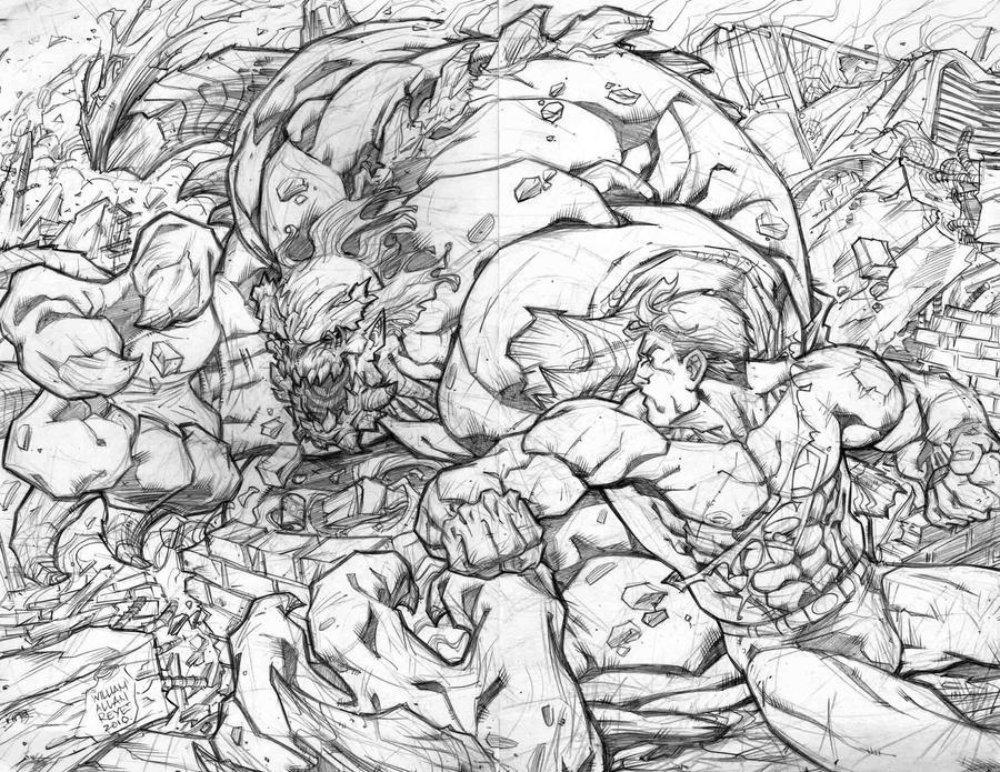 SUPERMAN VS. DOOMSDAY by warpath28