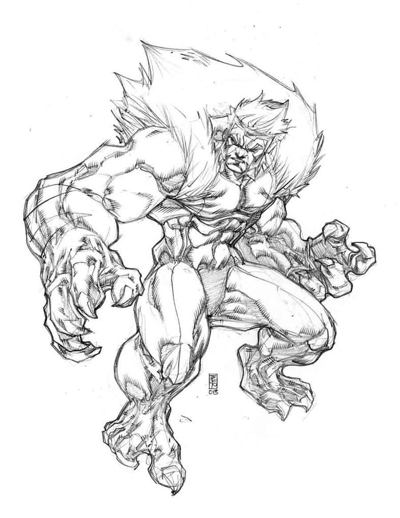 saber tooth coloring pages | SABERTOOTH by warpath28 on DeviantArt