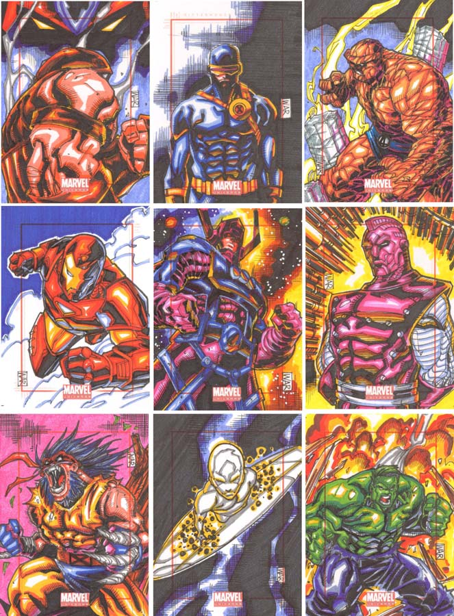Marvel Universe 2014 WAR SC permanent markers by warpath28