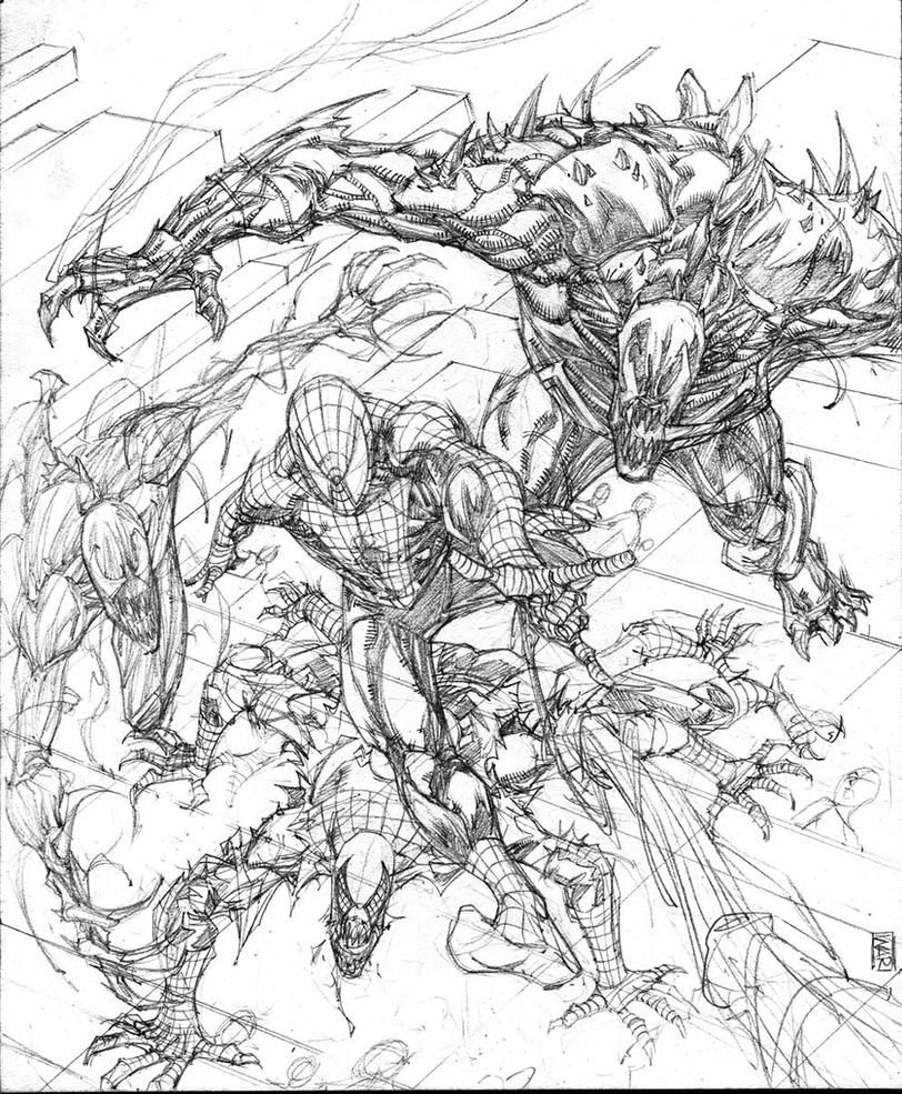 Spiderman vs. spidergang (wip) for sale by warpath28
