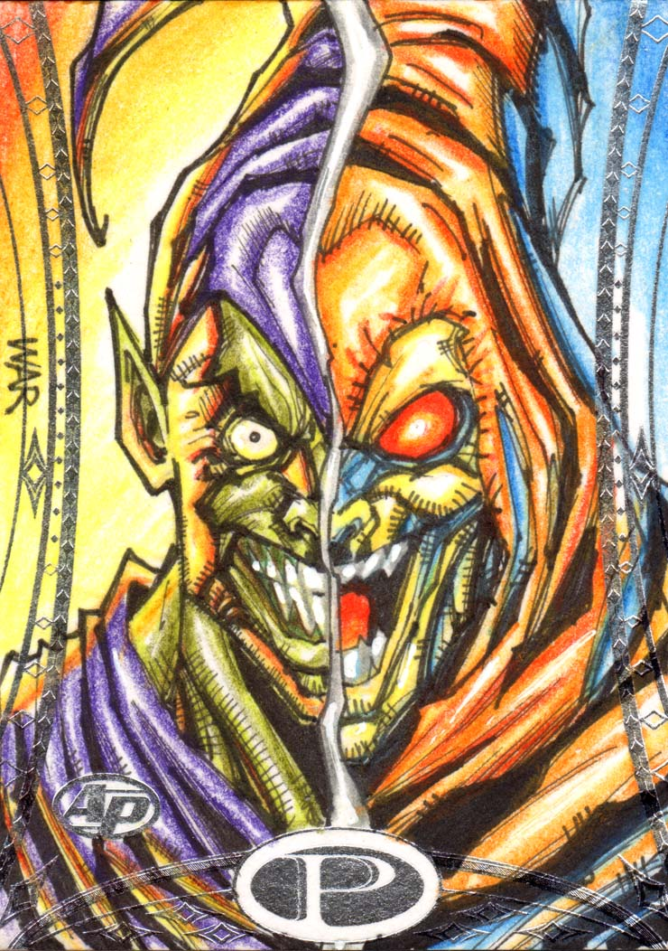 Green and Hob Goblin Marvel Premiere Upperdeck AP by warpath28