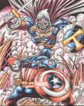 Taskmaster vs. Captain America Marvel 75th aniv.