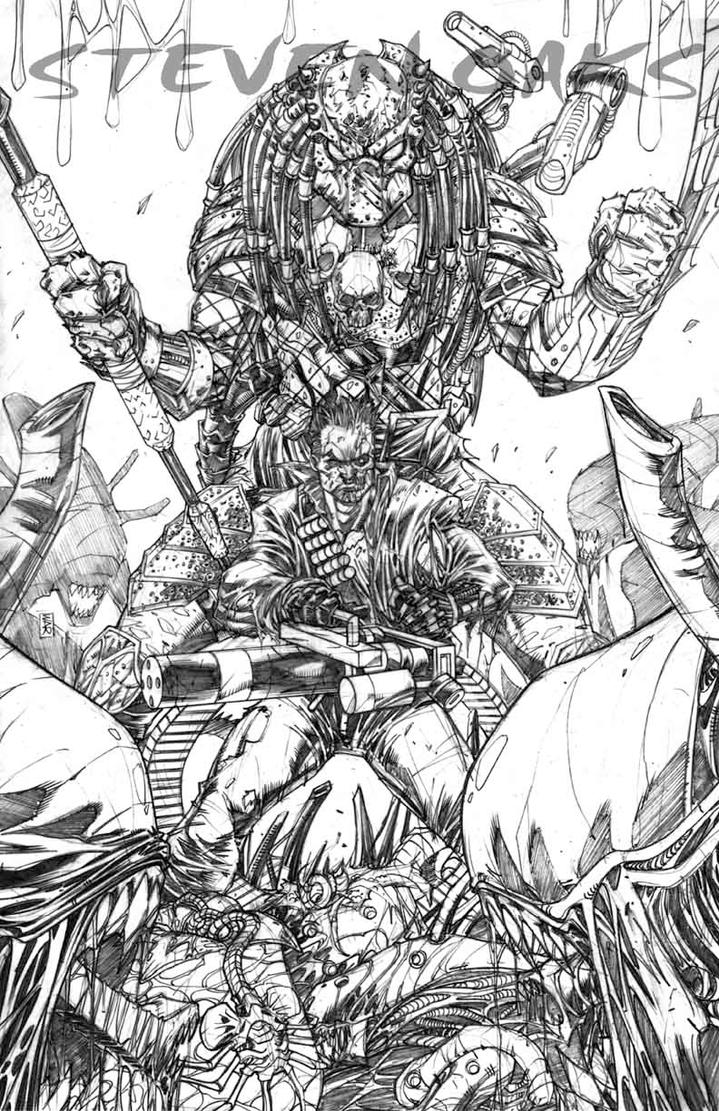 Alien vs Predator vs Terminator by warpath28