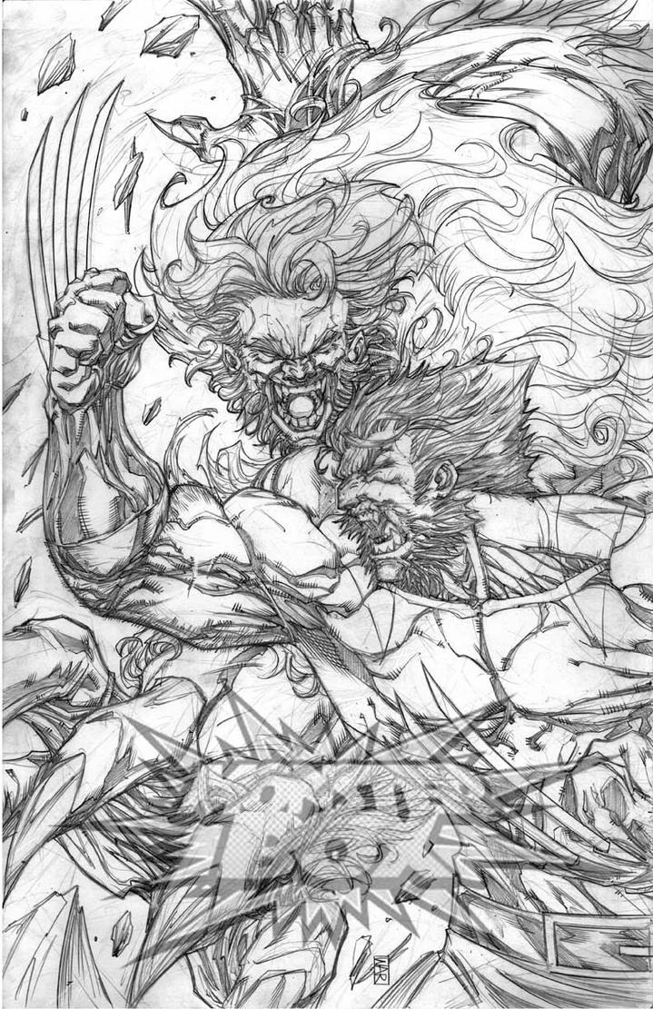 Wolverine vs Sabertooth by warpath28