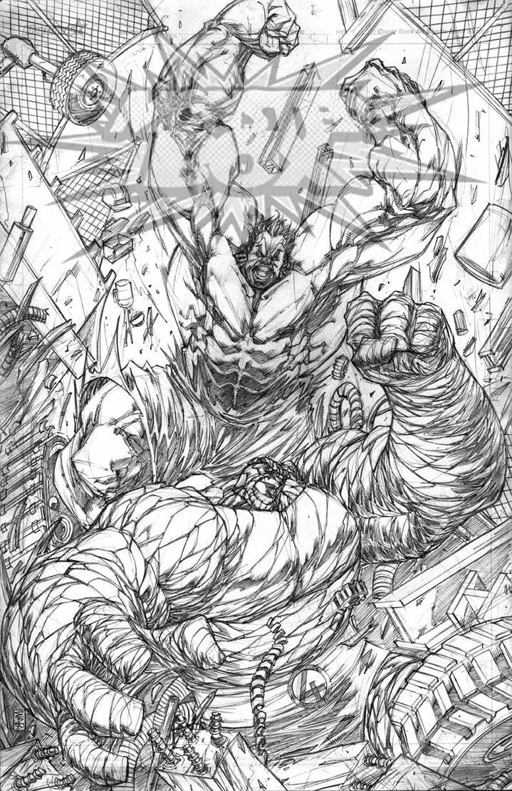 Hulk vs Thing by warpath28