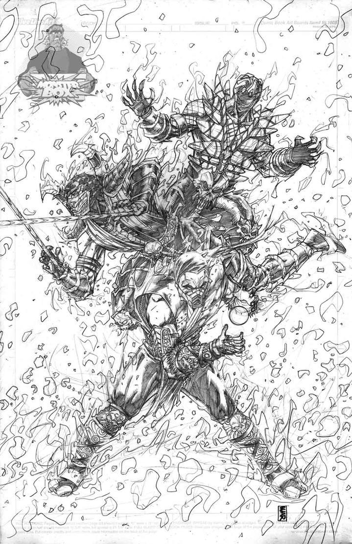 Mortal Kombat  subzero scorpion reptile by warpath28