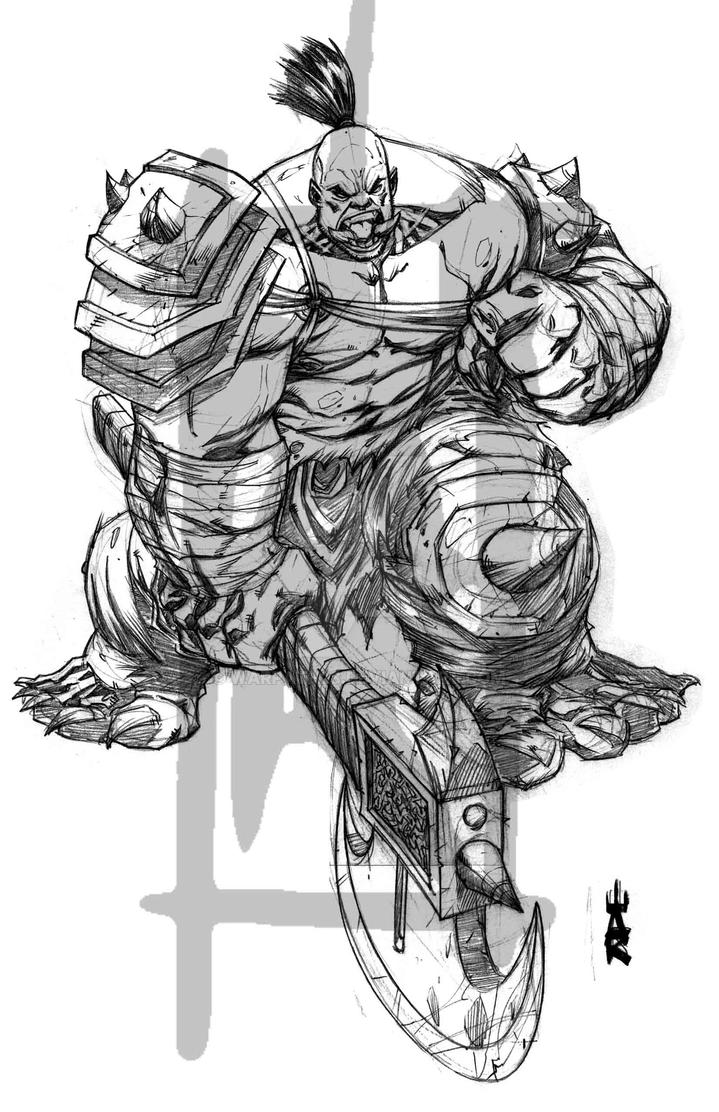 Blizzard World of Warcraft Orc Warrior by warpath28
