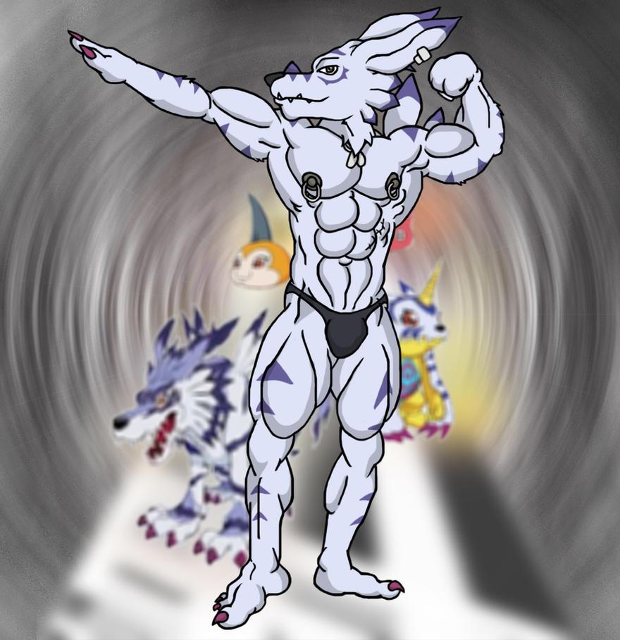 WereGarurumon Evolution by WolfoxOkamichan on DeviantArt
