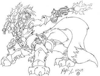 Taur Warrior Fox by Roger-Lee