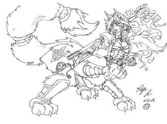 Taur Warrior Krystal by Roger-Lee
