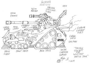 Wild Kat Battle Tank by Roger-Lee