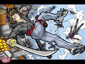 Dr. Pepper Ninja Battle by Roger-Lee