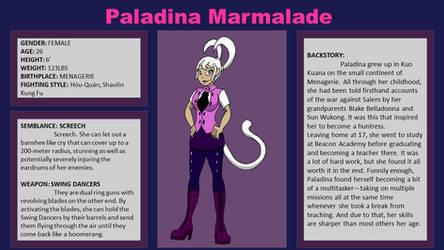 Paladina Marmalade Battle Stats