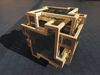 DOUBLE LAYERED CUBE by bo-dion
