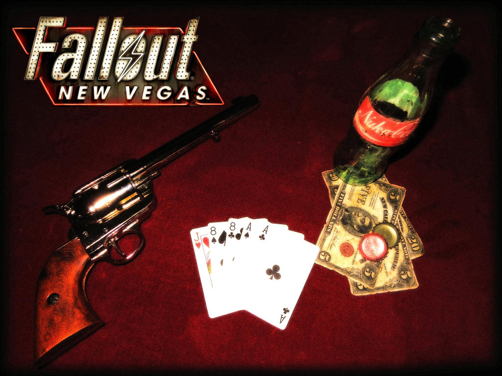 Fallout New Vegas - Dead Man's Hand Wallpaper by alex-rus07