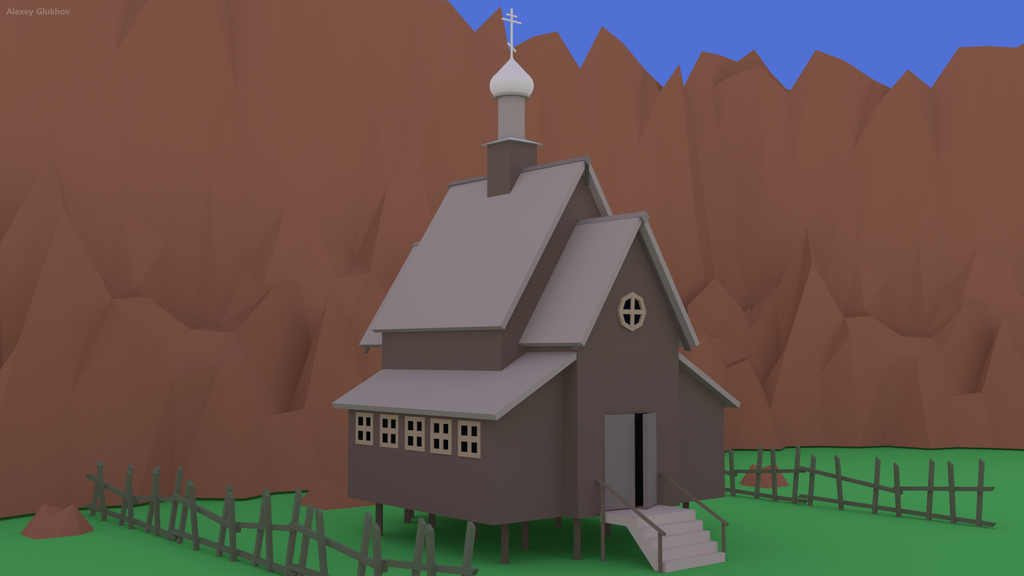 A Church - Low Poly by alex-rus07