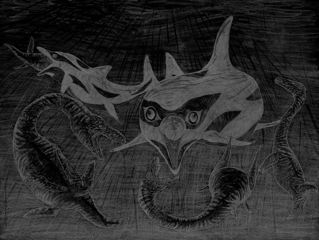 Killer Clown Temno VS Attenborosaurus negative by NashD1